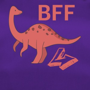 Brachiosaurus BFF best friends forever right - Duffel Bag
