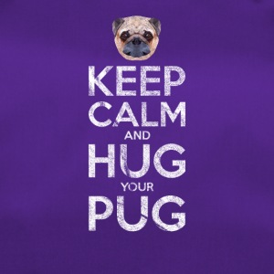 Keep Calm and klem PUG - Sportsbag