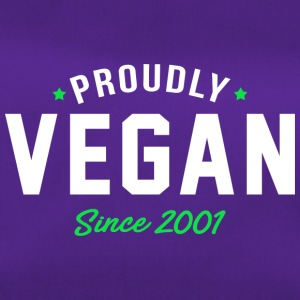 Vegan proud since 2001 proud vegan - Duffel Bag