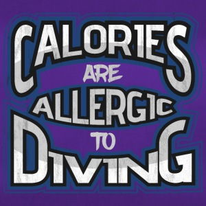 Calories are allergic to dipping - Duffel Bag