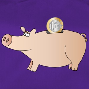 Piggy bank | Lucky pig Pig Euro saving - Duffel Bag