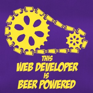 this web developer is beer powered - Sporttasche