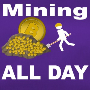 Mining Bitcoin BTC all day long White - Sporttasche