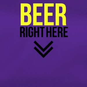 Beer right here - Duffel Bag