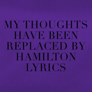 Letra de cancion Hamilton The Musical - Bolsa de deporte