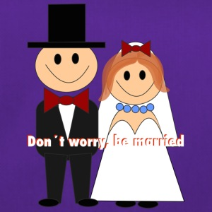 don t worry be married - Sporttasche