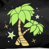 Two palm trees on the beach - Duffel Bag
