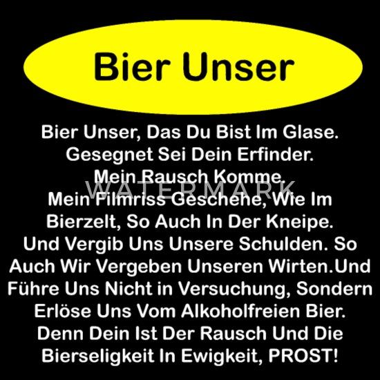 Bier Lustige Sprüche Geschenk Alkohol Spruch Party Sporttasche Schwarz