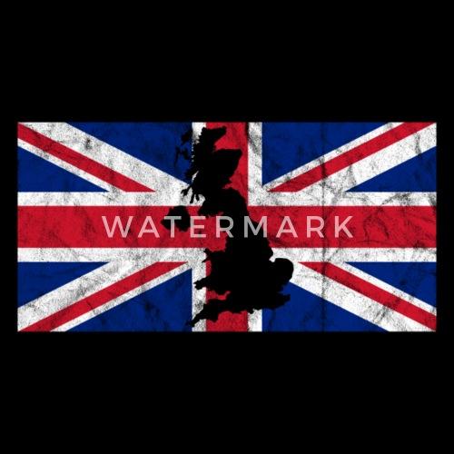 Großbritannien Karte Umriss.Uk Großbritannien Flagge Union Jack Umriss Karte Sporttasche Schwarz