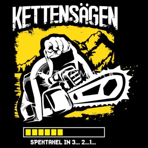Kettensage Holz Sage Sporttasche Spreadshirt