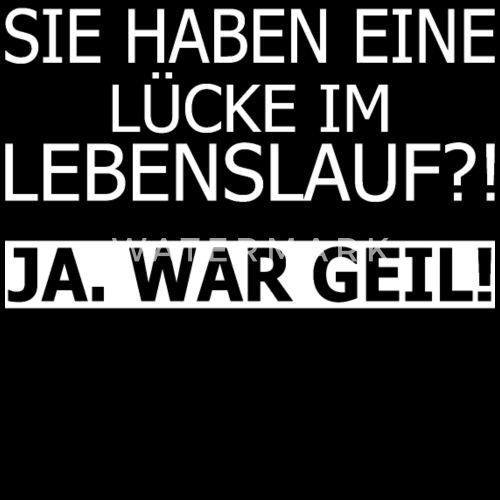 Lebenslauf Lucke Geil Lustig Spruch Sporttasche Spreadshirt