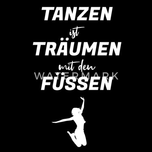 Lustiger Spruch Tanzen Tanzer Tanzlehrer Sporttasche Spreadshirt