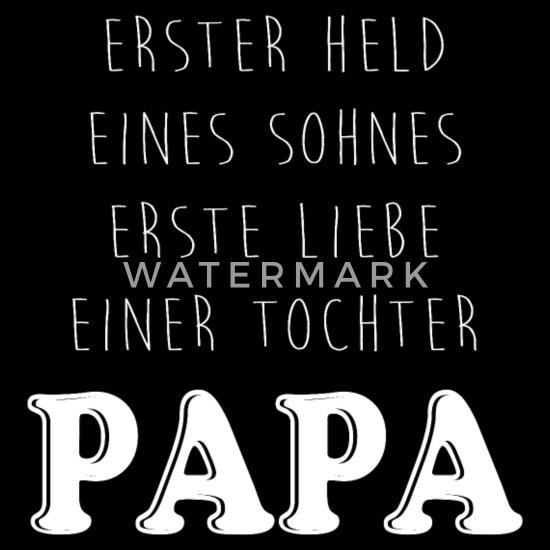 Held Sohn Liebe Tochter Papa Geschenk Spruch Danke Sporttasche Schwarz