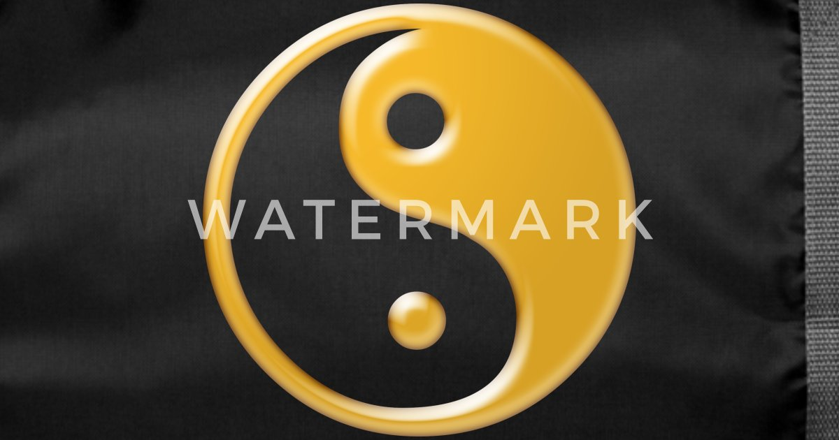 yin yang symbol gold von ga mariba spreadshirt. Black Bedroom Furniture Sets. Home Design Ideas