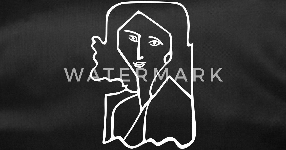 f372404649 Vecteur de contour de visage de femme Sac de sport | Spreadshirt