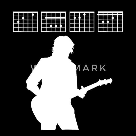 Chef Gitarre Gitarrist Noten Akkorde Geschenk Sporttasche Schwarz