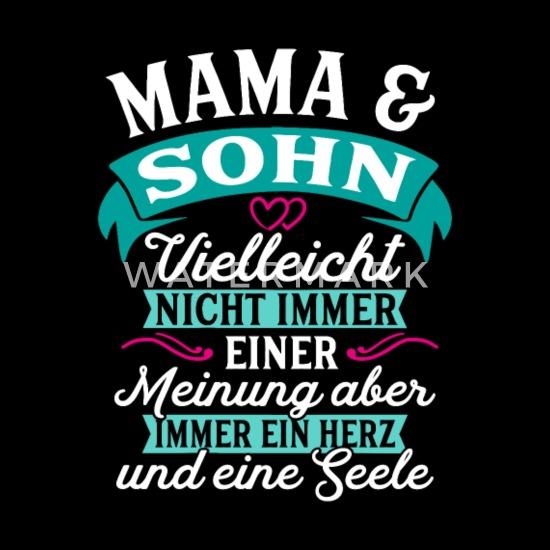 Mama Sohn Seele Geschenk Geburtstag Sporttasche Schwarz