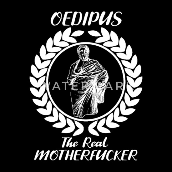 Oedipus The Real Greek Sphinx Myth Gift Duffel Bag - black