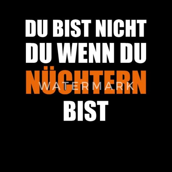 Trinksprüche Funshirt Lustige Sprüche Alkohol Sporttasche Schwarz