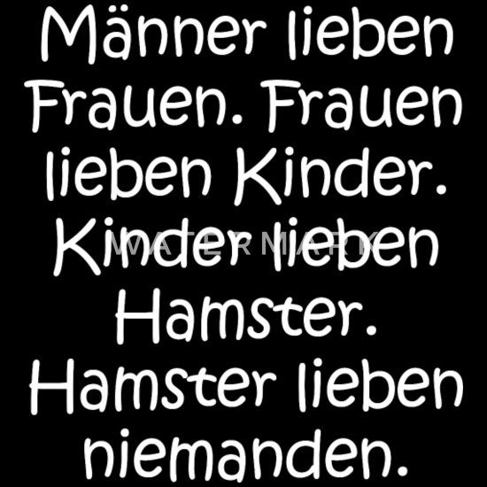 Lustige Sprüche Frauen Kinder Hamster Liebe Witz Sporttasche Schwarz