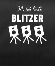 Ich teste Blitzer Spruch lustig Sporttasche Schwarz