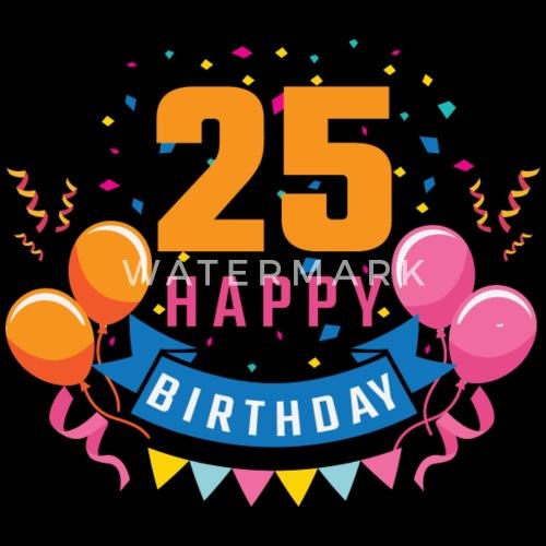 25ste verjaardag 25 jaar gelukkige gift van de verjaardag sporttas