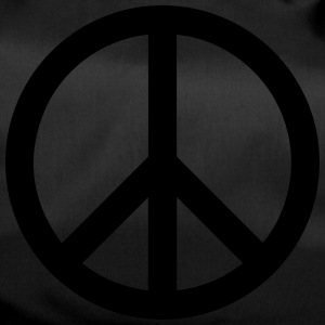 Peace Sign Filled Black - Sporttasche