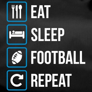 Eat Sleep American Football Gjenta - Sportsbag