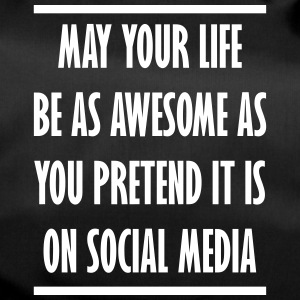 social media awesome life - Sporttasche