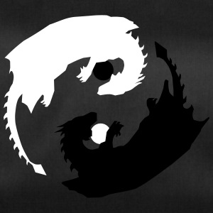 Yin and Yang Dragon with Spheres - Duffel Bag