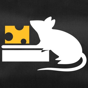 A Mouse Eating Cheese From The Mousetrap - Duffel Bag