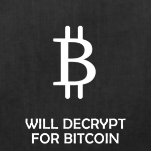 Will Decrypt For Bitcoin - Duffel Bag