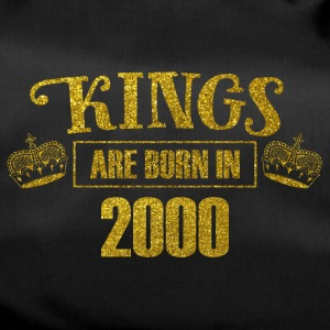 kings are born in 2000 - Geburtstag Koenig Gold - Sporttasche