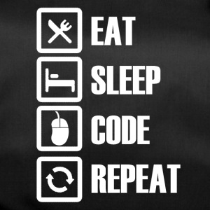 eat sleep code repeat - Bolsa de deporte