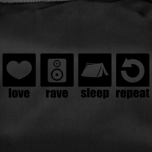 Love rave sleep repeat - Duffel Bag