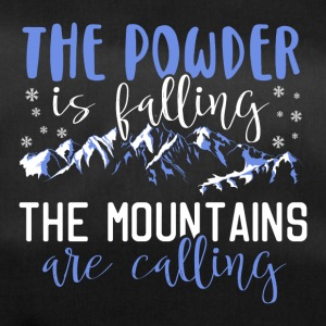 The powder is falling - The mountains are calling - Sporttasche