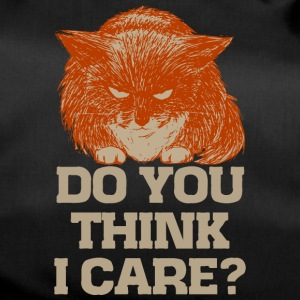 Ginger the cynic cat, do you think I care? t-shirt - Duffel Bag
