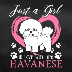 Just a little girl in love with her Havanese - Duffel Bag