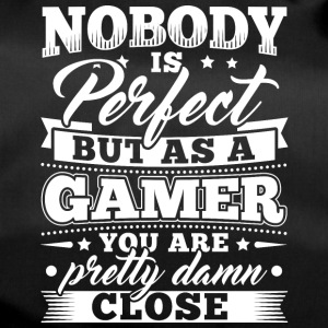 Funny Gamer Gaming Shirt Nobody Perfect - Sporttasche