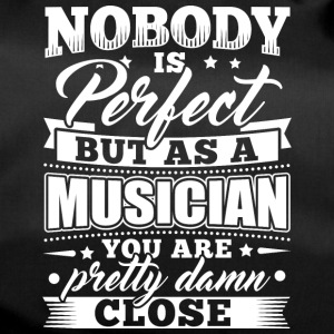 Funny Musician Music Shirt Nobody Perfect - Sporttasche