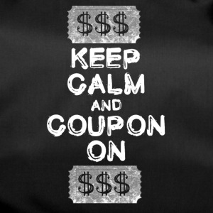Mantenere la calma e coupon sul coupon t-shirt - Borsa sportiva