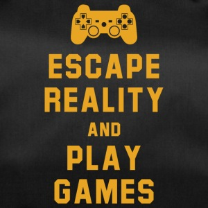 Escape reality and play games - Duffel Bag