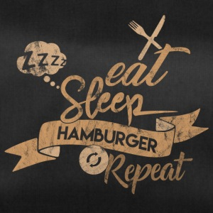 EAT SLEEP HAMBURGER REPEAT - Sac de sport