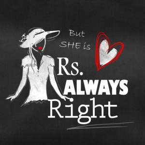 Mrs always Right - Partnerlook Shirt 001 - Sporttasche