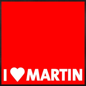 I heart Martin red with edge - Duffel Bag