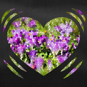 Heart Green Purple Mosaic - Duffel Bag