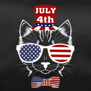 4th of July Meowica American Patriotic Funny Cat - Duffel Bag