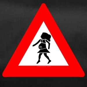 Traffic sign: Pregnant red / pregnant red - Duffel Bag
