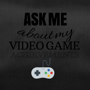 Ask me about my video game achievements - Sporttasche