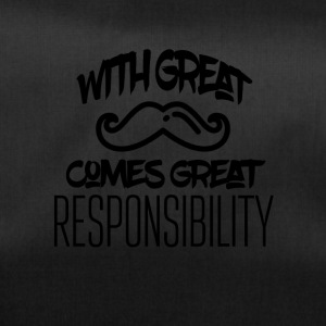 With great mustache comes great responsibility - Sporttasche